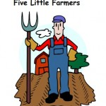 image of Five Little Farmers fingerplay printable