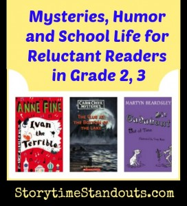 Chapter Books for Reluctant Readers Mysteries Humor School Life