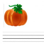 Storytime Standouts shares free Halloween printables including pumpkin-theme interlined printing paper