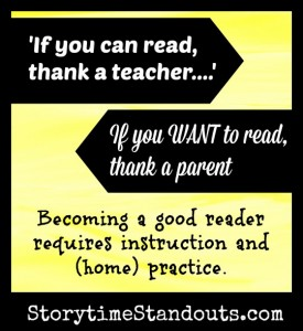 'If you can read this thank a teacher.  If you want to read thank a parent.' from StorytimeStandouts.com