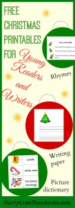 Free Christmas Printables for Young Readers and Writers from Storytime Standouts