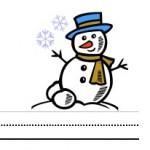 Free printable snowman theme writing paper for children