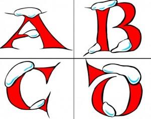 Free winter-theme prinable alphabet