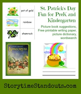 Free St. Patrick's Day Printables for Preschool, Homeschool and Kindergarten from Storytime Standouts