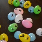 Learning Letters with Plastice Eggs