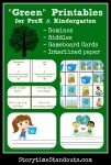 Free Green Printables for Preschool and Kindergarten