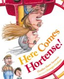 image of cover art for family diversity picture book Here Comes Hortense