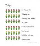 Free printable Spring-theme fingerplay for preschool or kindergarten