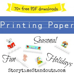 More than 70 Free Writing Paper Downloads for Kids