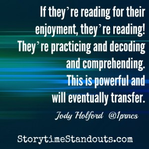 Storytime Standouts' Guest Contributor Interviews Reluctant Readers