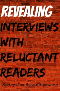 Interviews with Two Reluctant Readers by our Guest Contributor