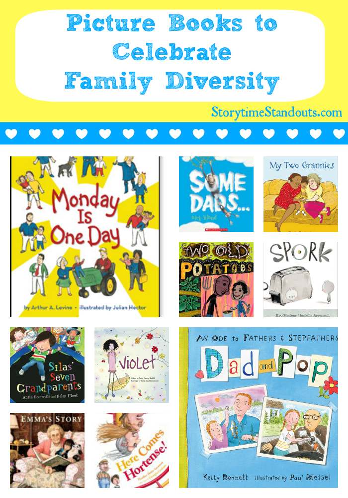 Picture Books to Celebrate Family Diversity from StorytimeStandouts.com