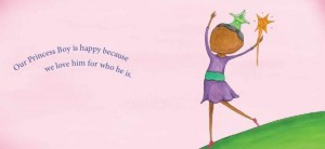 spread from My Princess Boy, a picture book about acceptance