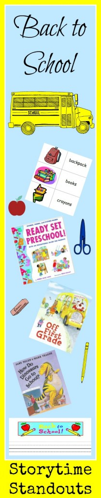 Storytime Standouts shares Back to School picture books and free printables for kindergarten