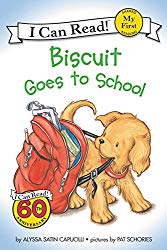 Storytime Standouts shares back to school books including Biscuit Goes to School