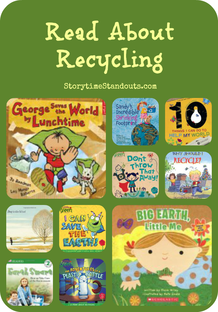 Let's help children gain environmental awareness! Storytime Standouts shares some terrific recycling picture books.