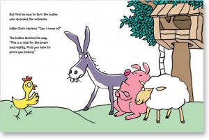 illustration from Chick O Saurus Rex  an anti bullying picture book