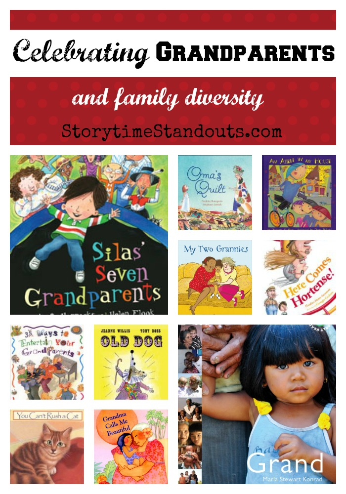 Storytime Standouts recommends picture books about grandparents and family diversity