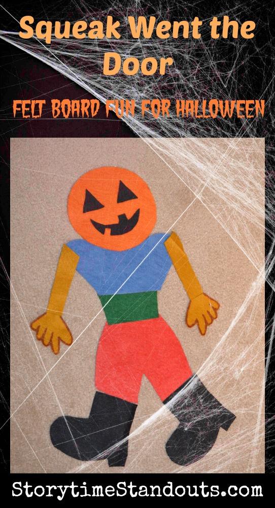 Squeak Went the Door a fun Halloween flannel board story for preschool and kindergarten