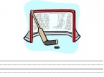 Free Printable Ice Hockey-Theme Writing Paper