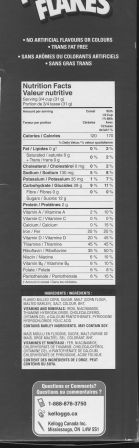 Frosted Flakes Canadian Ingredients