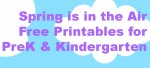 Free Spring and Easter Theme Printables for Preschool and Kindergarten