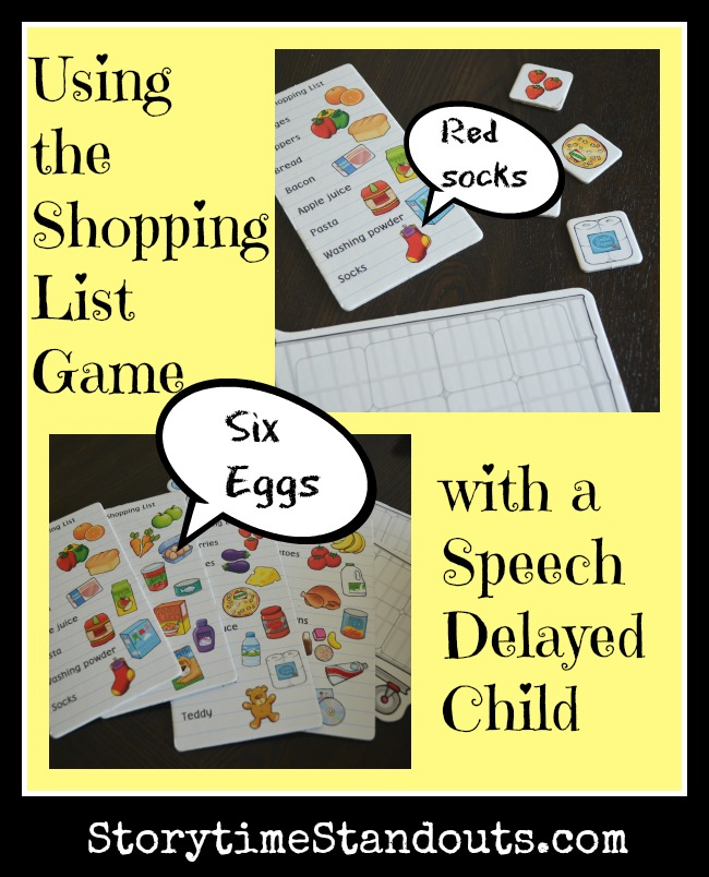 Using the Shopping List Game with a Speech Delayed Child