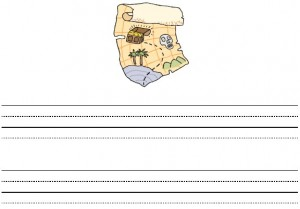 Pirate Map Interlined Paper from Storytime Standouts