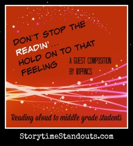 Don't Stop the Readin'  Hold on to that Feeling A Guest Post by @1Prncs