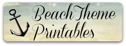 Beach Theme Early Learning Printables from Storytime Standouts
