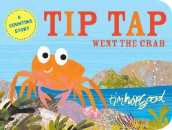 Beach theme picture books including Tip Tap Went the Crab written and illustrated by Tim Hopgood