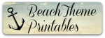 Beach Theme Early Learning Printables and Picture Books