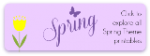 Spring Theme Printables and Picture Books