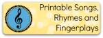 Free printable Songs, Rhymes and Fingerplays for Preschool and Kindergarten from Storytime Standouts