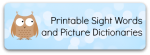 Free printable sight words and picture dictionaries for kindergarten, homeschool and ESL