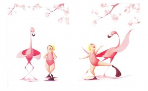 Illustration from Flora and the Flamingo