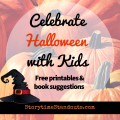 Celebrate Halloween with our free homeschool, preschool and kindergarten printables and book suggestions