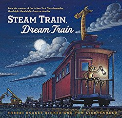 Rhyming picture book about bedtime Steam Train, Dream Train