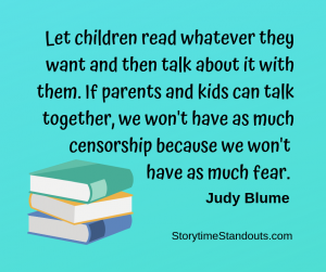 Storytime Standouts shares a quote from Judy Blume