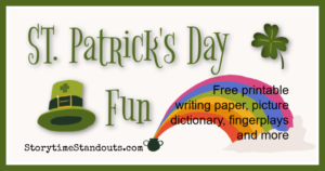 ST Patrick's Day printables for kids from StorytimeStandouts.com