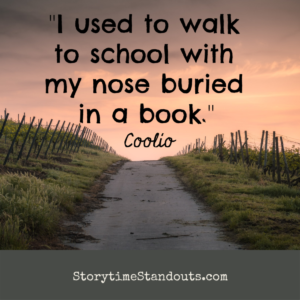 Quote - I used to walk to school with my nose buried in a book.