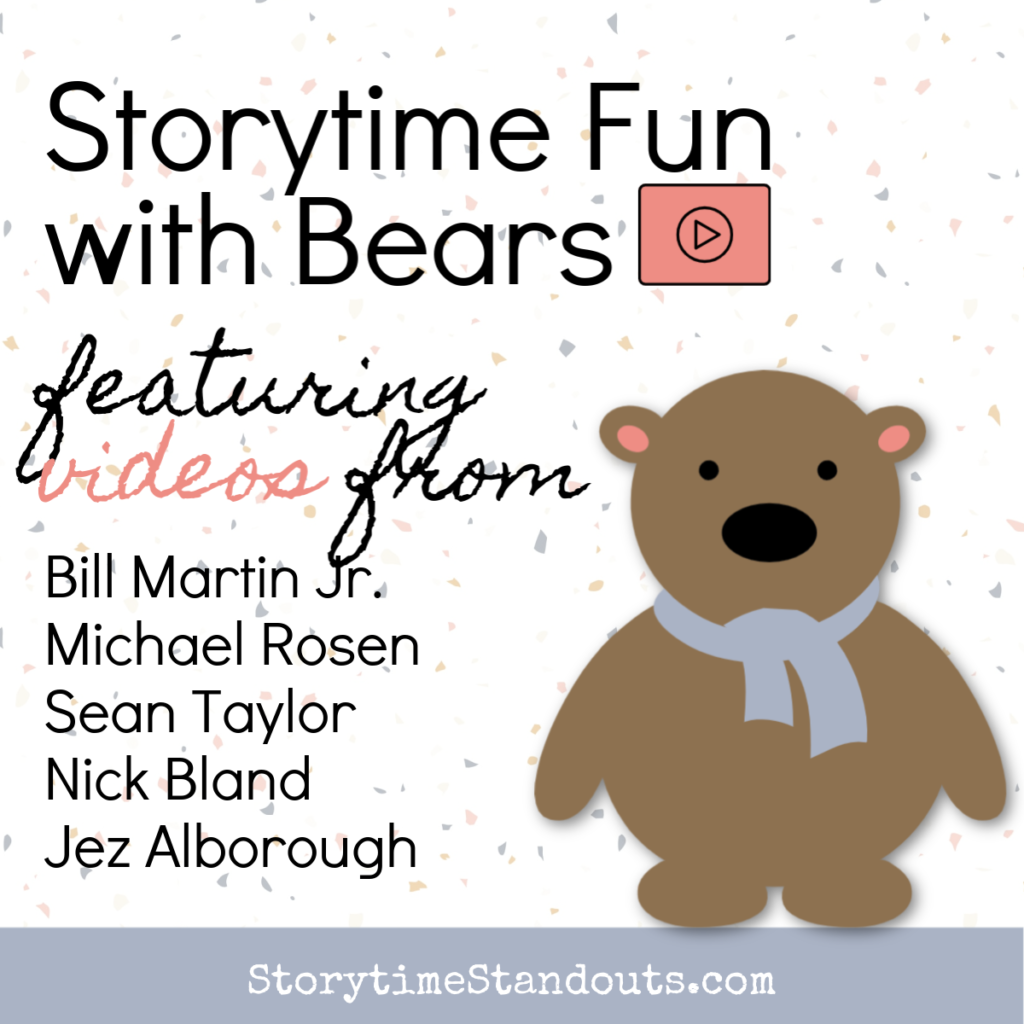 Storytime with Bears features videos of authors and others reading stories about bears. Includes free printables for children.
